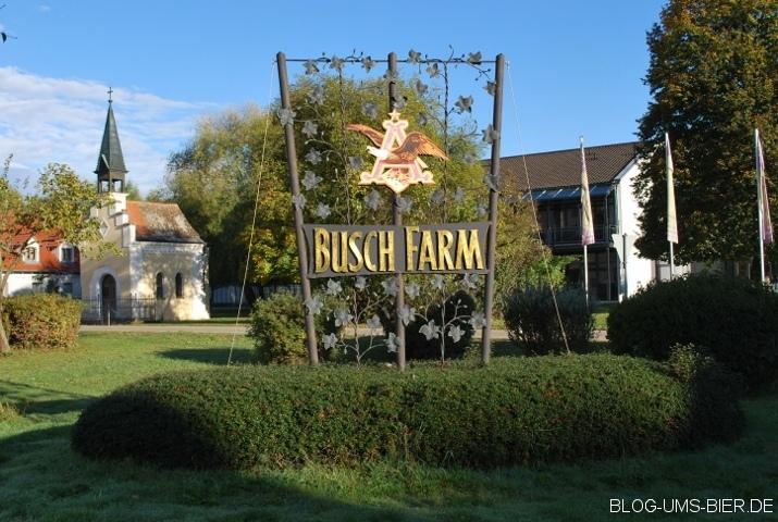 Namensschild der Busch Farm in Hüll
